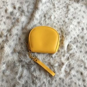 Yellow Leather Coin Purse